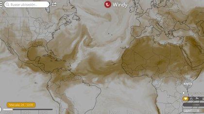 El Polvo del Sahara llegó a la Península de Yucatán el 23 de junio (Foto: Twitter@CNPC_MX)