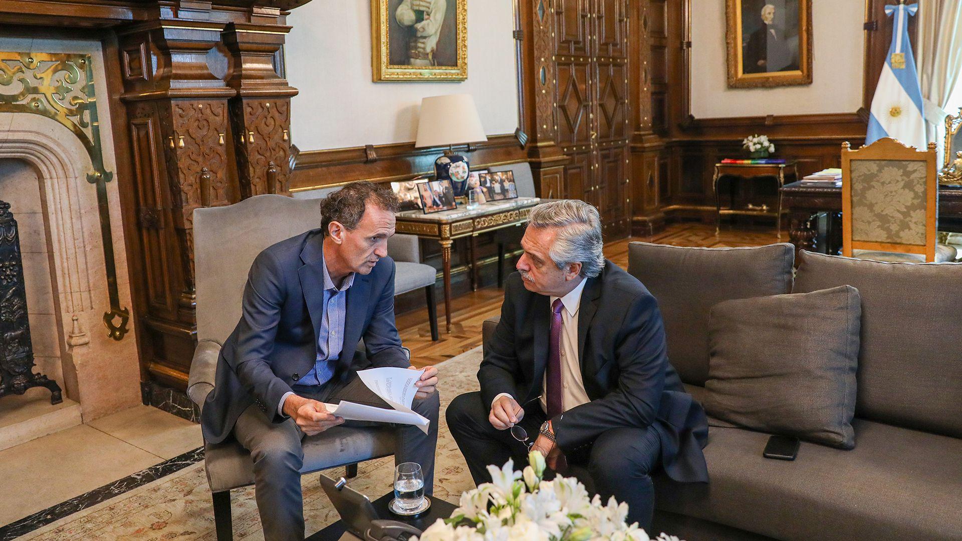 El presidente Alberto Fernández recibió al ministro Gabriel Katopodis
