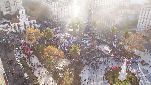 El acto tuvo lugar en la Plaza de Mayo