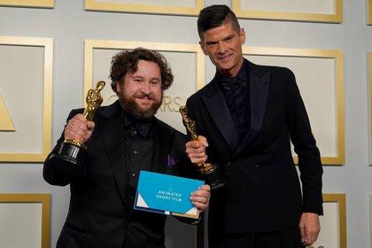 Michael Govier y Will McCormack ganadores por Mejor película corta de animación (Foto: REUTERS)