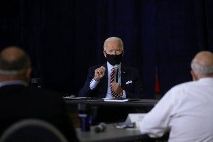 El presidente de Joe Biden en una reunión de veteranos REUTERS/Leah Millis