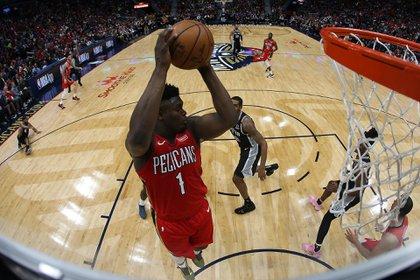 El debut de Zion Williamson en la NBA (AFP)