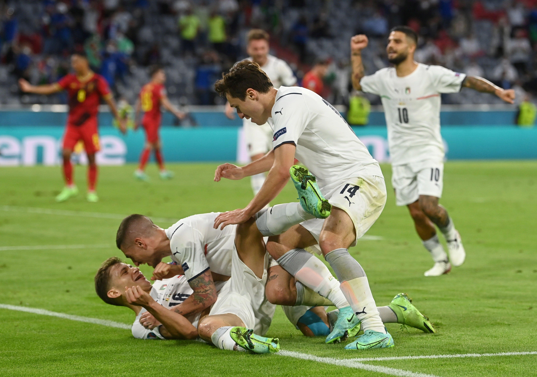 Italia le ganó una final anticipada a Bélgica y ahora quiere cargarse a España (REUTERS/Christof Stache)
