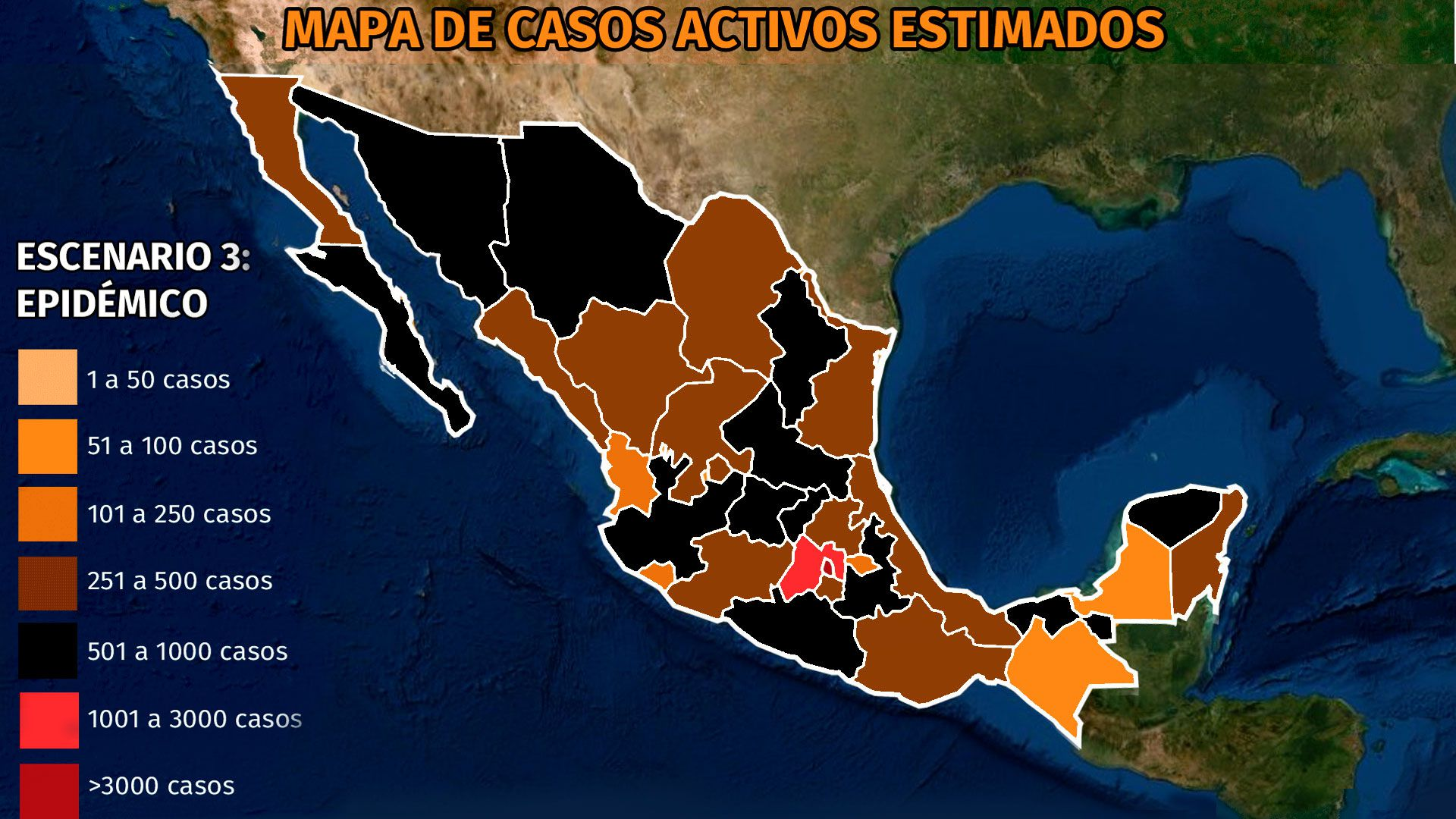 Mapa del coronavirus en México 18 de abril: los cinco estados con más casos activos