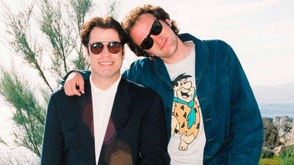 John Travolta y Quentin Tarantino en el festival de Cannes en 1994 (Shutterstock)