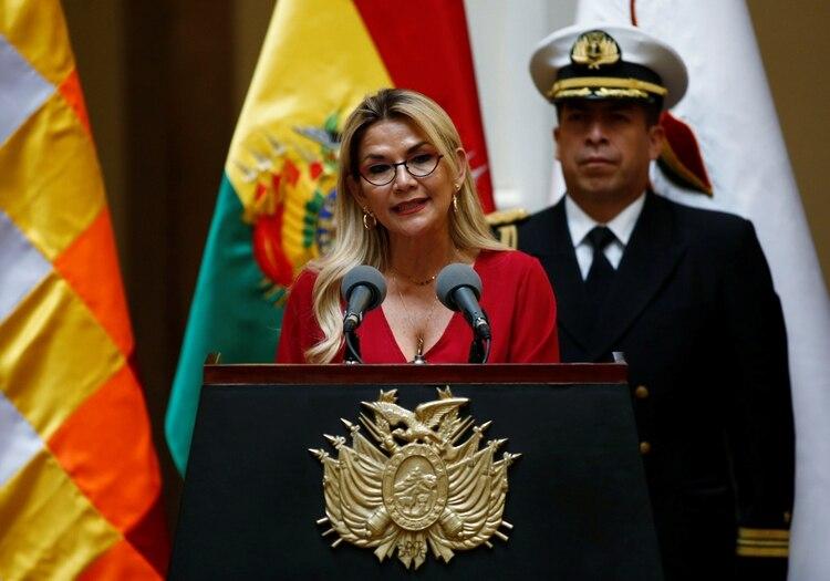 Jeanine Anez presidente interina de Bolivia (REUTERS/David Mercado)