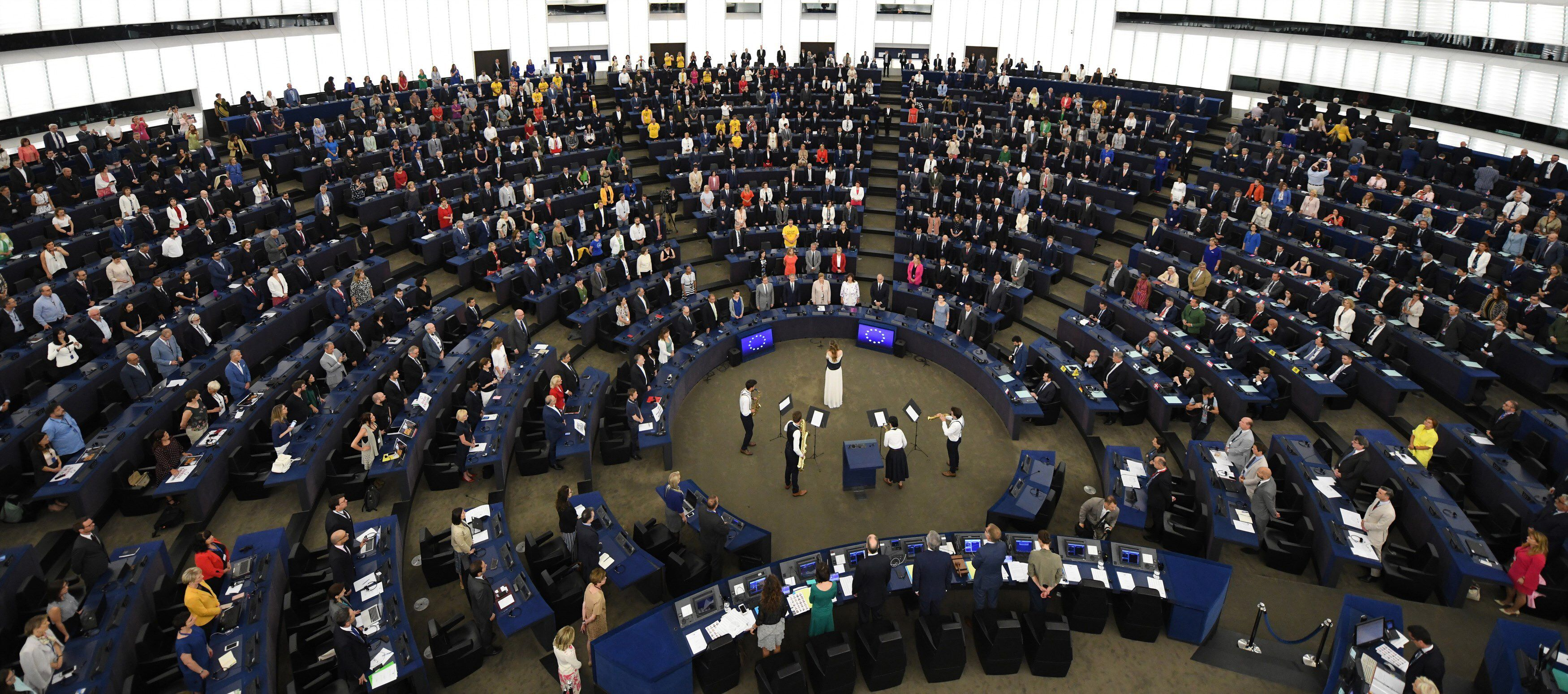 La Eurocámara retoma sus plenos en Estrasburgo tras la pandemia. EFE/ Patrick Seeger/Archivo