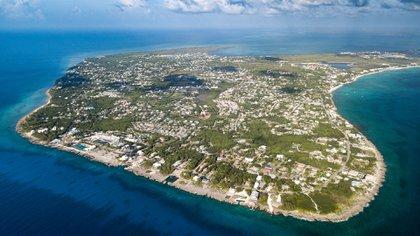 Imagen aérea de Gran Caimán, Islas Caimán (Shutterstock)