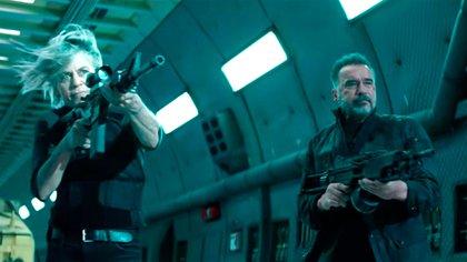"""Arnold Schwarzenegger con Linda Hamilton, en la nueva """"Terminator: Dark Fate"""""""