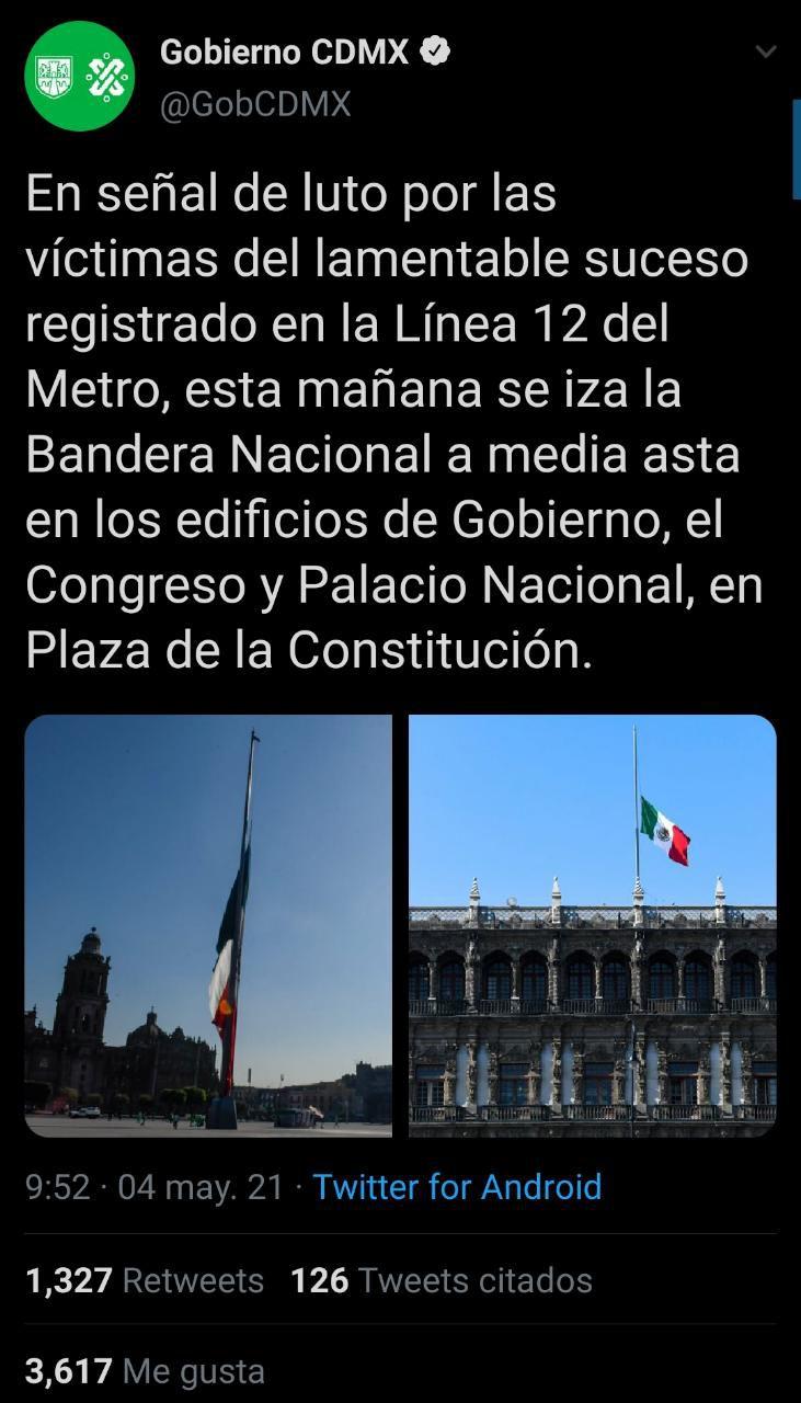 Luto nacional Gobierno CDMX