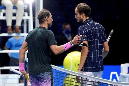Daniil Medvedev venció a Rafael Nadal (REUTERS/Toby Melville)