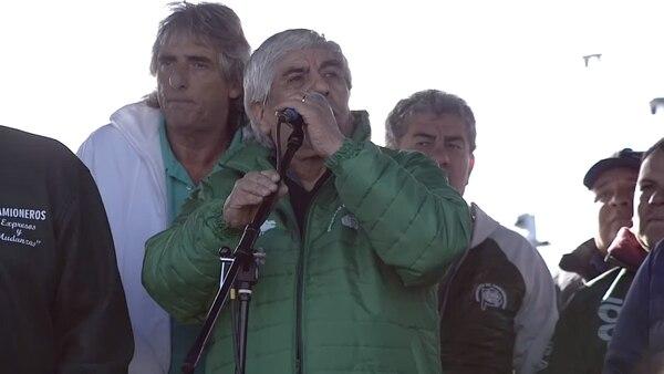 El secretario general de Camioneros Hugo Moyano