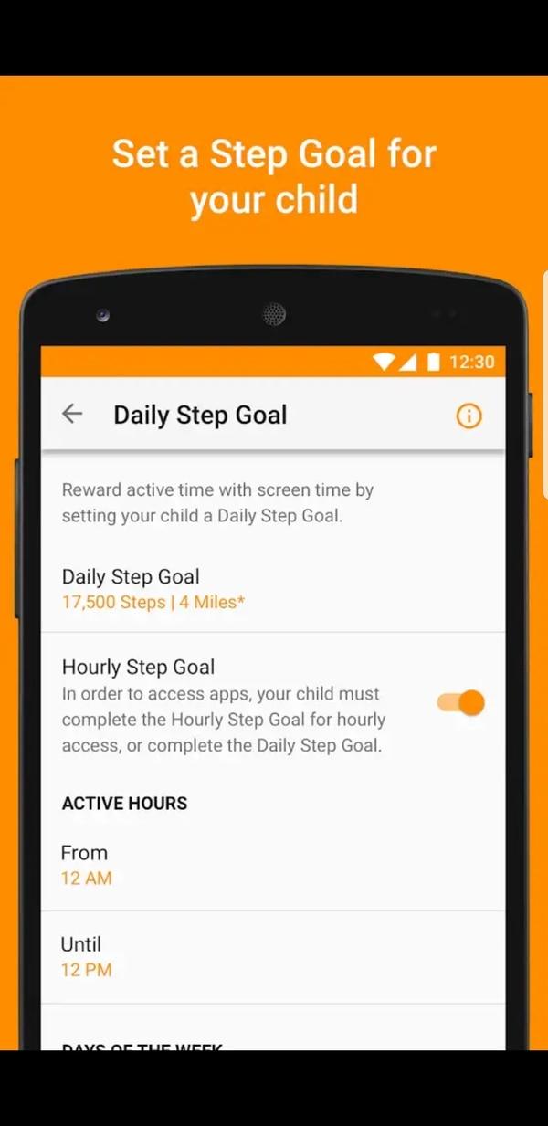 En la app se establecen los objetivos diarios para propiciar la actividad física en los menores