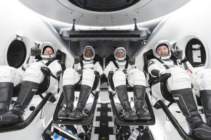 La tripulación de la primera misión operativa de Space X a la Estación Espacial, compuesta por astronautas (Europa Press)