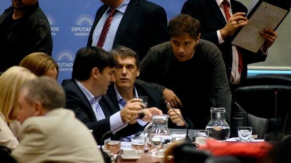 Diego Bossio, Pablo Kossiner y Axel Kicillof (Nicolás Stulberg)