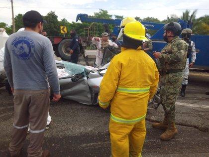 Imagen publicada por Protección Civil de Tabasco en su cuenta de Twitter.