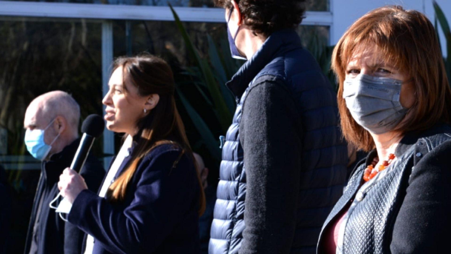 Patricia Bullrich, María Eugenia Vidal, Martín Lousteau y Horacio Rodríguez Larreta
