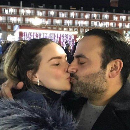 La pareja en pleno romance, según las fotos que aparecieron en Instagram