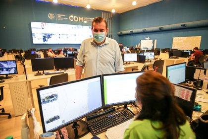 La entrevista se llevó a cabo en el Centro de Operaciones y Monitoreo de Mar del Plata
