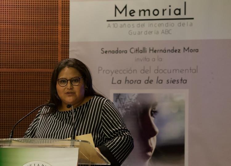 La senadora Hernández Mora expuso la postura de los legisladores morenistas (Foto: Cuartoscuro)