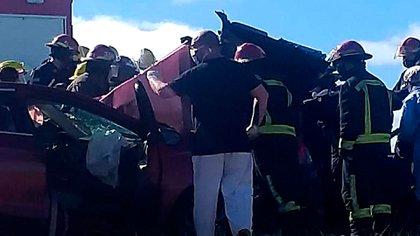 Los dos muertos viajaban en el VW Gol (Municipio de Pinamar)