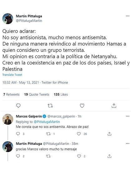 Martin Petaluga ha chiarito di non essere né antisionista né antisemita e ha indicato di considerare Hamas un gruppo terroristico (Twitter)