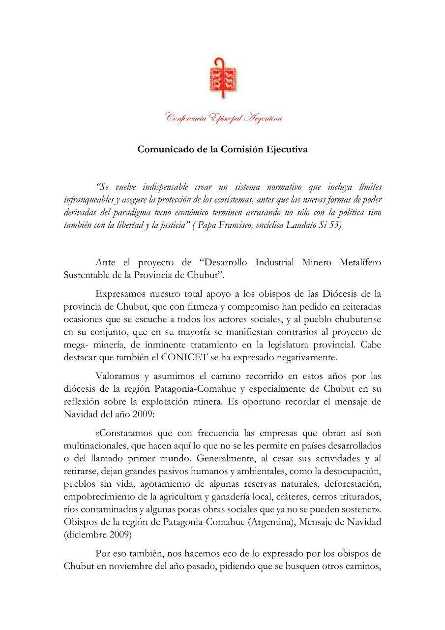 Conferencia Episcopal Argentina-Megaminería