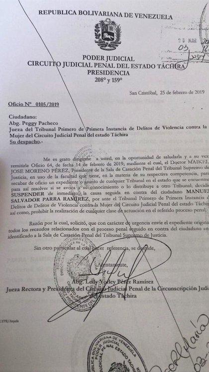 El presidente del TRibunal Supremo de Justicia, Maikel Moreno, ordenó que le envíen el expediente del ahora teniente coronel