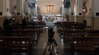 Este año, la traidicional misa de San Cayetano se transmitió de manera virtual (Adrián Escandar)