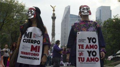 Manifestación por el aborto en México