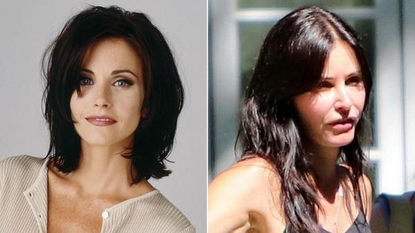 El antes y después de Courtney Cox