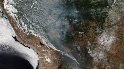 Los incendios en la selva amazónica vistos por el NOAA (National Oceanic and Atmospheric Administration)