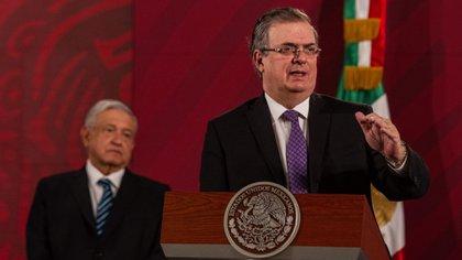 """El secretario de Relaciones Exteriores, Marcelo Ebrard, afirmó que """"con esa información, da a conocer que el procurador de Estados Unidos tenía comunicación con el procurador de México, Medina Mora"""" (Foto: Cuartoscuro)"""