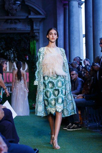 La diseñadora Pía Carregal presentó su colección en Milán