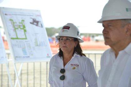Rocío Nahle, titular de la cartera de Energía en el gobierno de AMLO (Foto: Cortesía Presidencia)