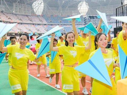 La procesión se asemejó al Desfile de las Naciones de los Juegos Olímpicos