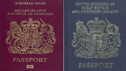 El pasaporte británico cambió su diseño para retirar la mención a la Unión Europea