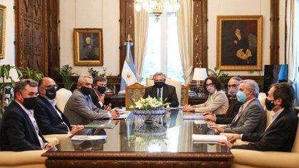 Última reunión de Alberto Fernández y la Mesa de Enlace