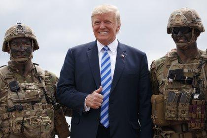 Trump le da mucha importancia a los asuntos militares y aumentó ostensiblemente su presupuesto(AP Photo/Carolyn Kaster)