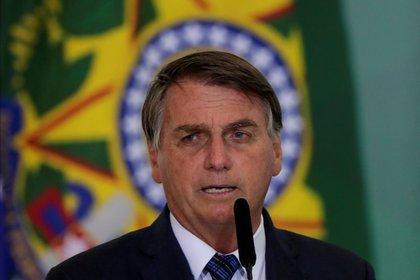 Foto de archivo: El presidente de Brasil, Jair Bolsonaro, en el Palacio de Planalto en Brasilia el 23 de febrero de 2021 (REUTERS/Ueslei Marcelino)