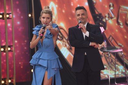 Laurita Fernández y Ángel de Brito, conductores del show. Foto: Jorge Luengo