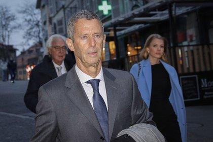 Beny Steinmetz arrives at Geneva criminal court on Jan. 11. Photographer: Stefan Wermuth/Bloomberg