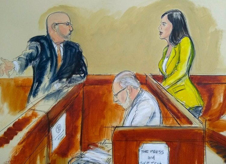 """El Chapo"" miró varias veces a Emma(Elizabeth Williams via AP)"