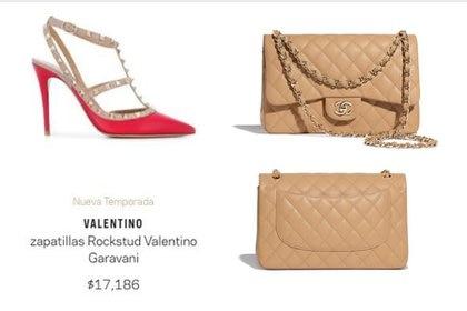 Los zapatos Valentino y la Bolsa Chanel son accesorios de lujo que llevó la nuera de AMLO (Foto: Especial)