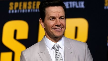 """Cast member Wahlberg poses at the premiere for the film """"Spenser Confidential"""" in Los Angeles"""