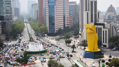 Los manifestantes instalaron sus tiendas de campaña en las avenidas Juárez y Reforma (Foto: Cuartoscuro)