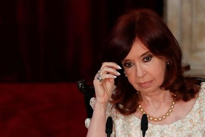 Foto de archivo - La vicepresidenta de Argentina, Cristina Fernández de Kirchner, durante la sesión inaugural 2021 del Congreso Nacional (Reuters)
