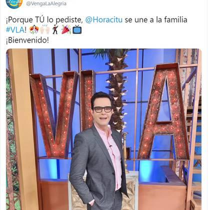 Horacio ya había formado parte del programa hace algunas semanas