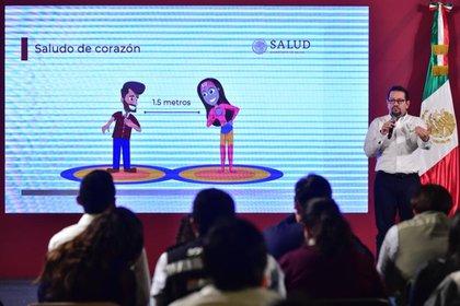 Ricardo Cortés, titular de la Direccion General de Promocion de la Salud, informa sobre la jornada nacional de Sana Distancia 2020 (Foto: Cortesía)