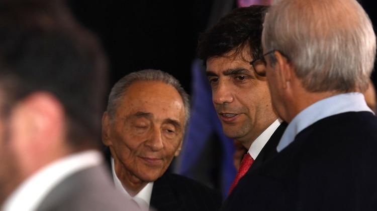 Hernán Lacunza junto a Héctor Magnetto (foto Maximiliano Luna)